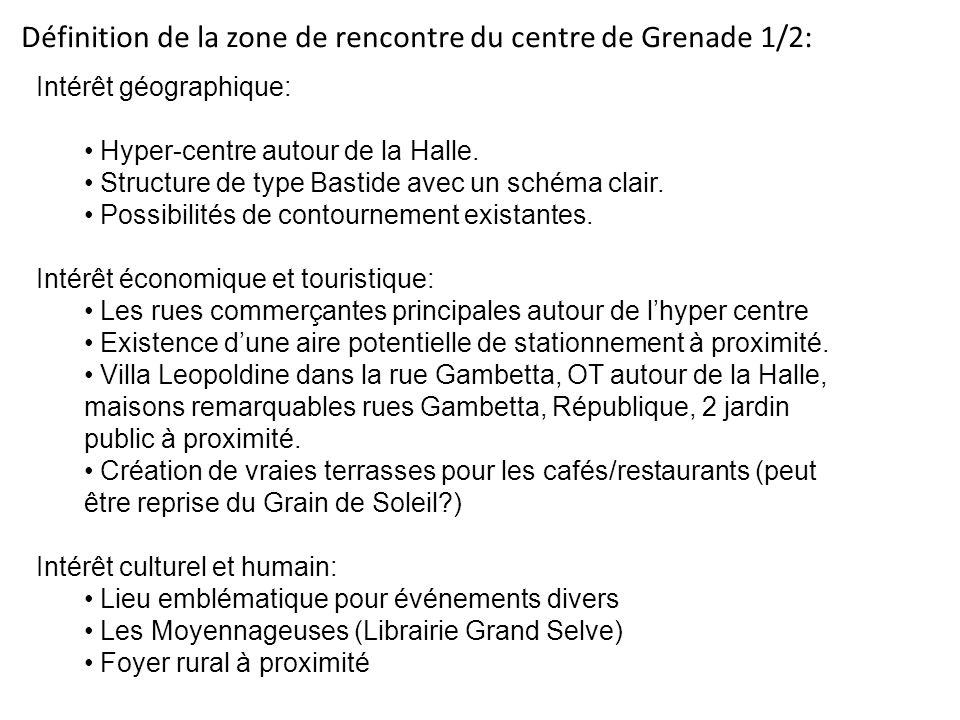 Définition de la zone de rencontre du centre de Grenade 1/2: