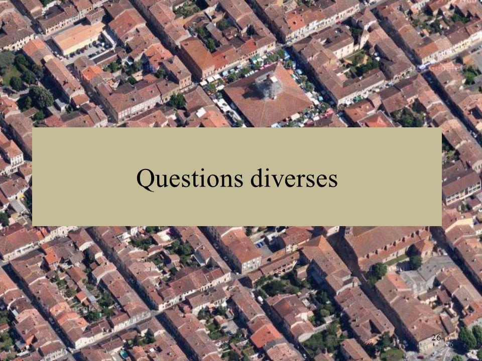 Questions diverses 26