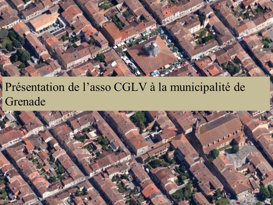 Présentation de l'asso CGLV à la municipalité de Grenade