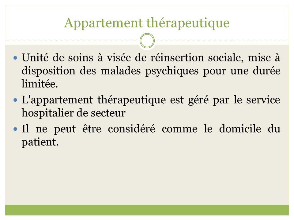 Appartement thérapeutique