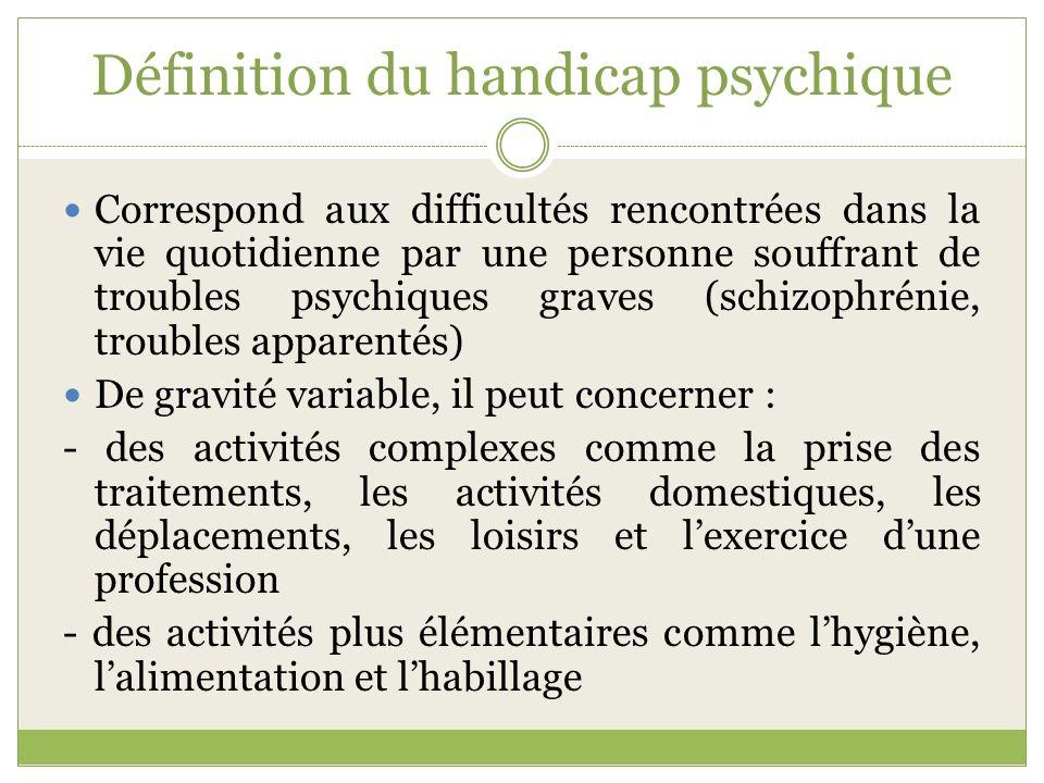 Définition du handicap psychique