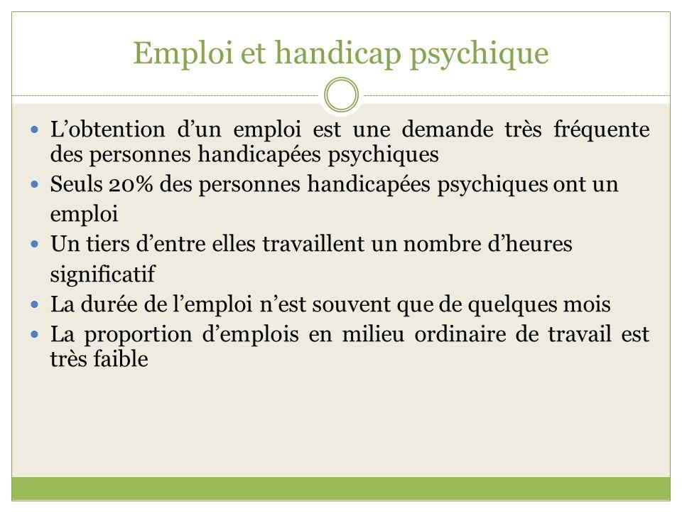 Emploi et handicap psychique