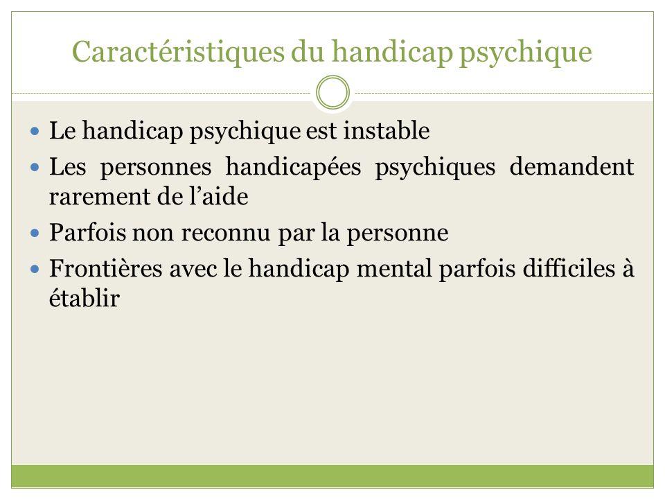 Caractéristiques du handicap psychique