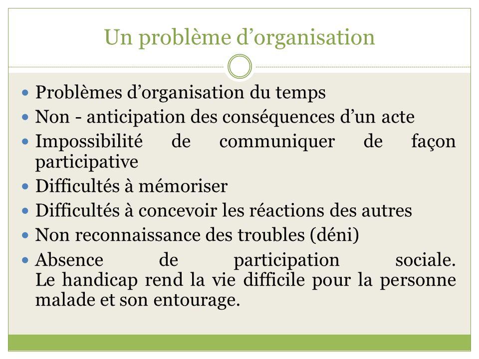 Un problème d'organisation