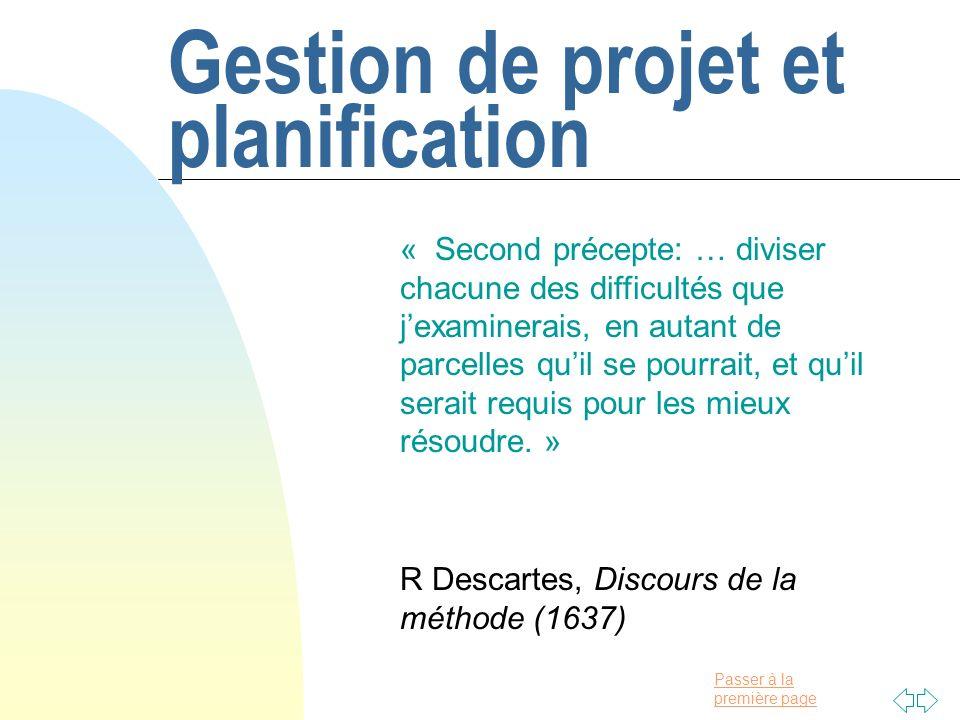 Gestion de projet et planification