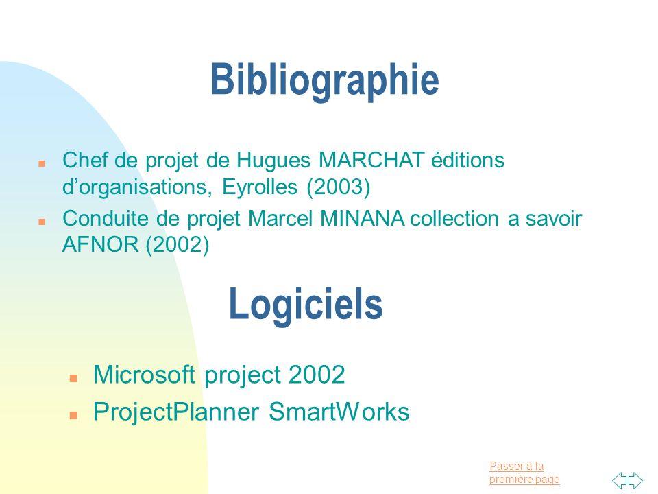 Bibliographie Logiciels Microsoft project 2002