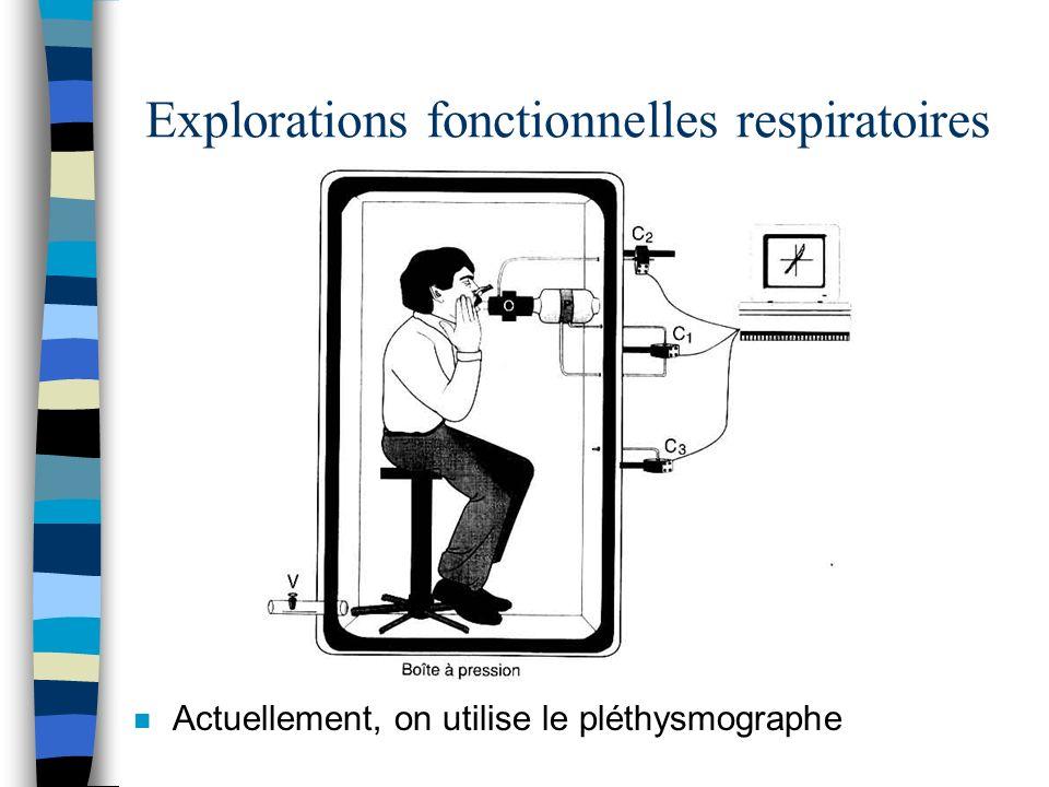 Explorations fonctionnelles respiratoires