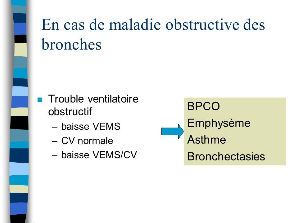 En cas de maladie obstructive des bronches