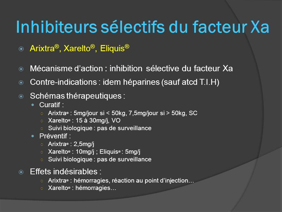 Inhibiteurs sélectifs du facteur Xa