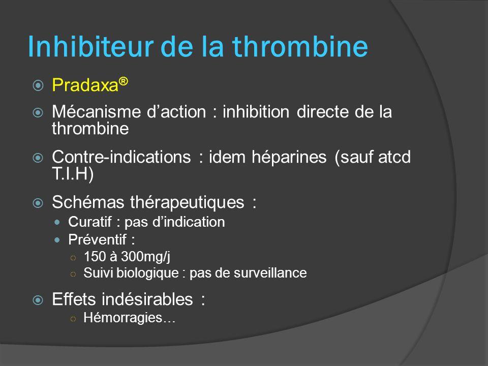 Inhibiteur de la thrombine