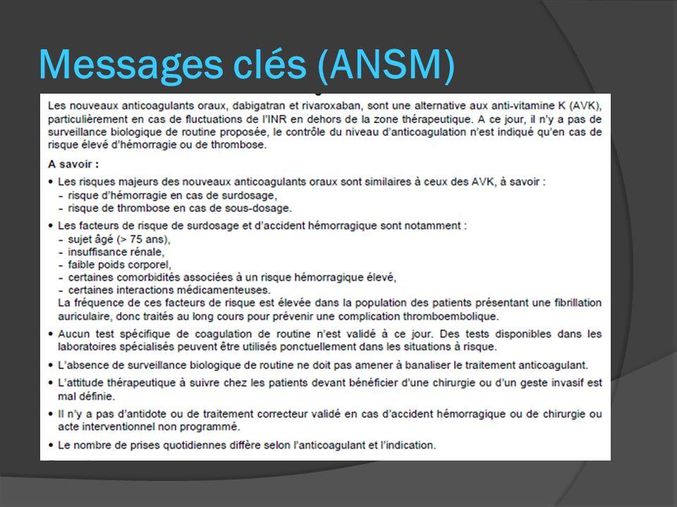 Messages clés (ANSM)