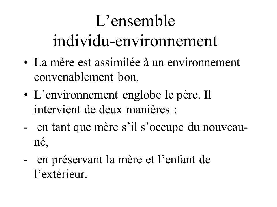 L'ensemble individu-environnement