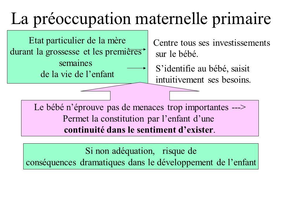 La préoccupation maternelle primaire