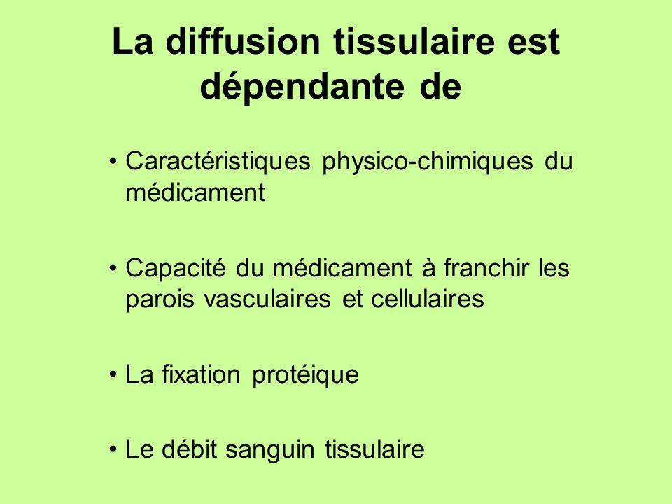 La diffusion tissulaire est dépendante de