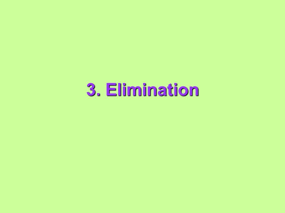 3. Elimination