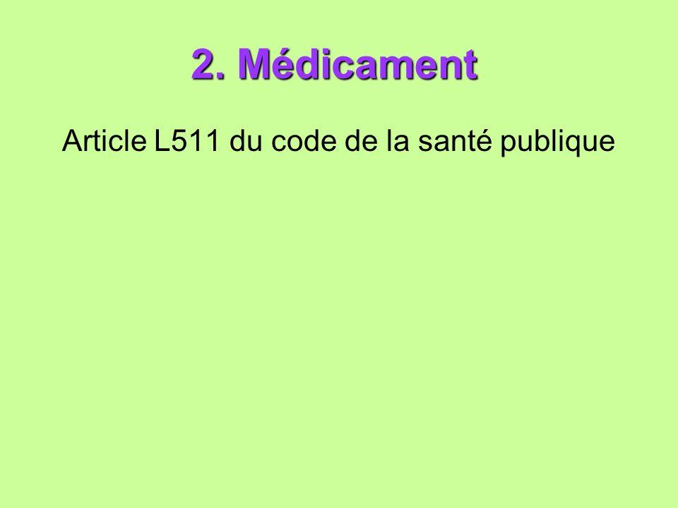 Article L511 du code de la santé publique