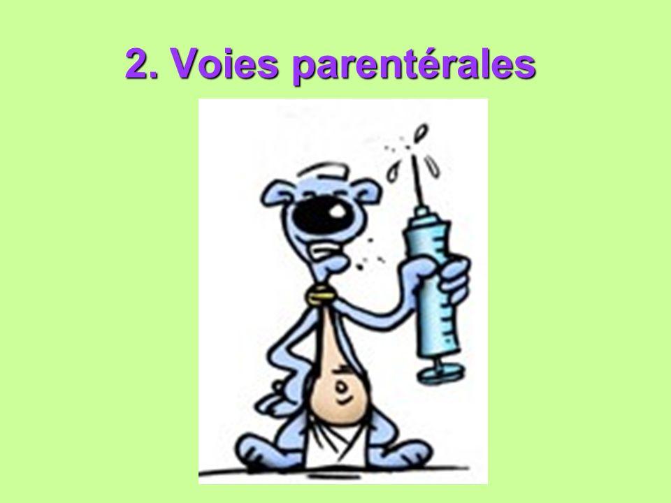 2. Voies parentérales