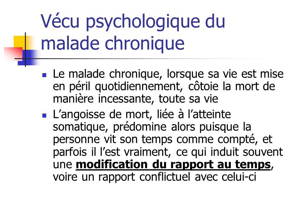 Vécu psychologique du malade chronique