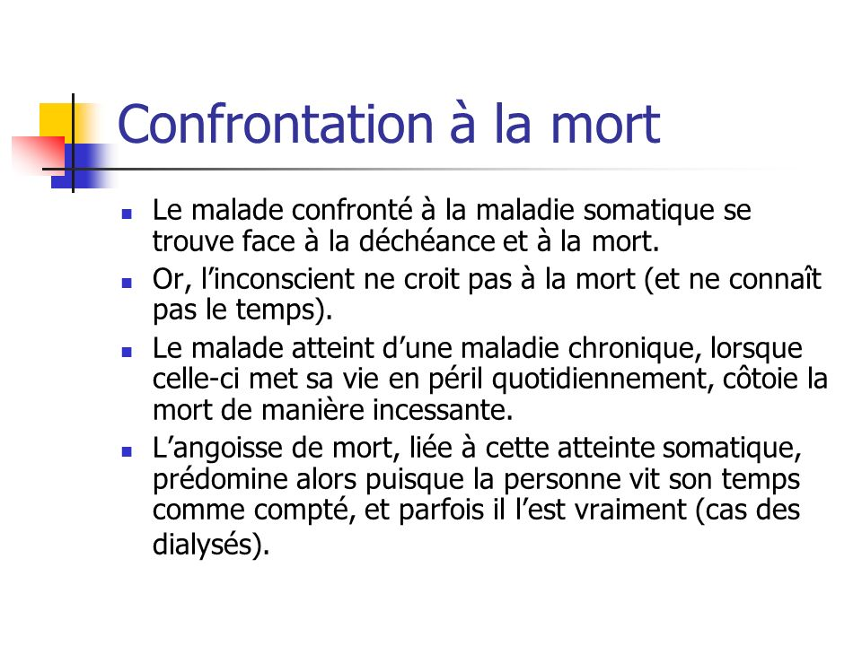 Confrontation à la mort