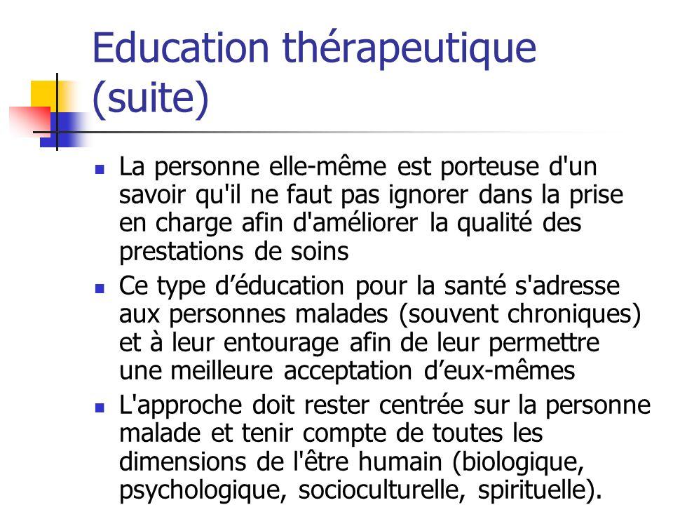 Education thérapeutique (suite)