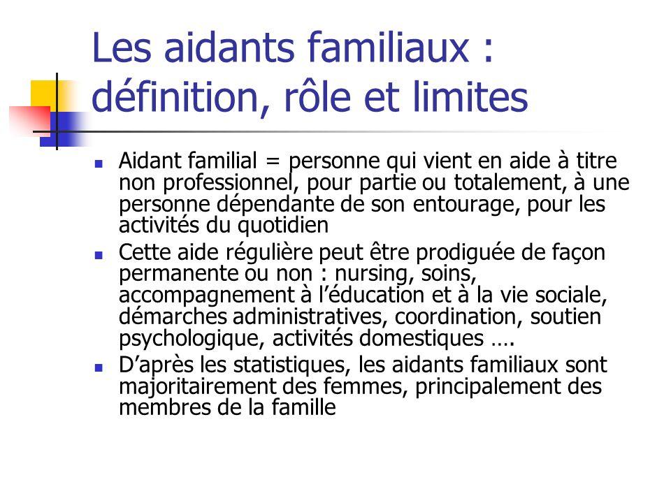 Les aidants familiaux : définition, rôle et limites