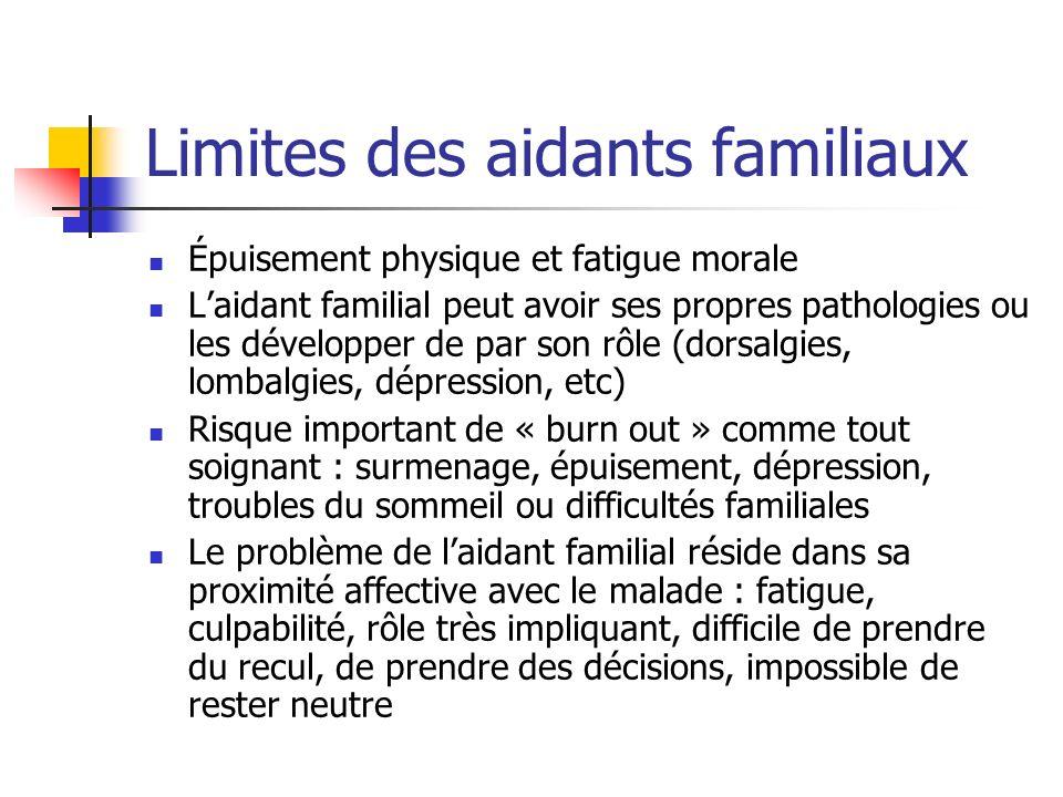 Limites des aidants familiaux