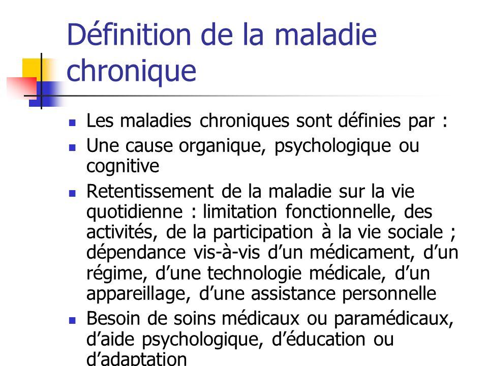 Définition de la maladie chronique