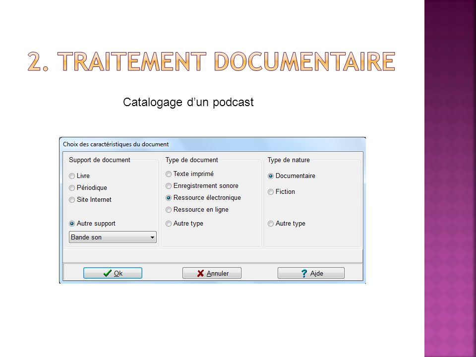 2. Traitement documentaire