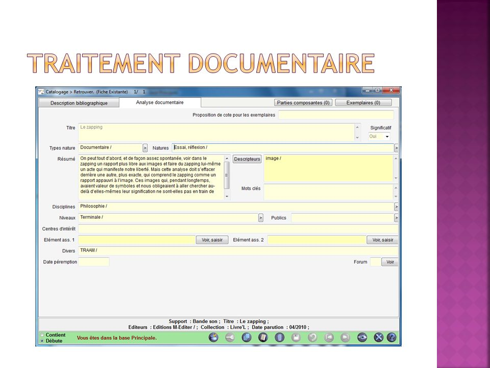 Traitement documentaire