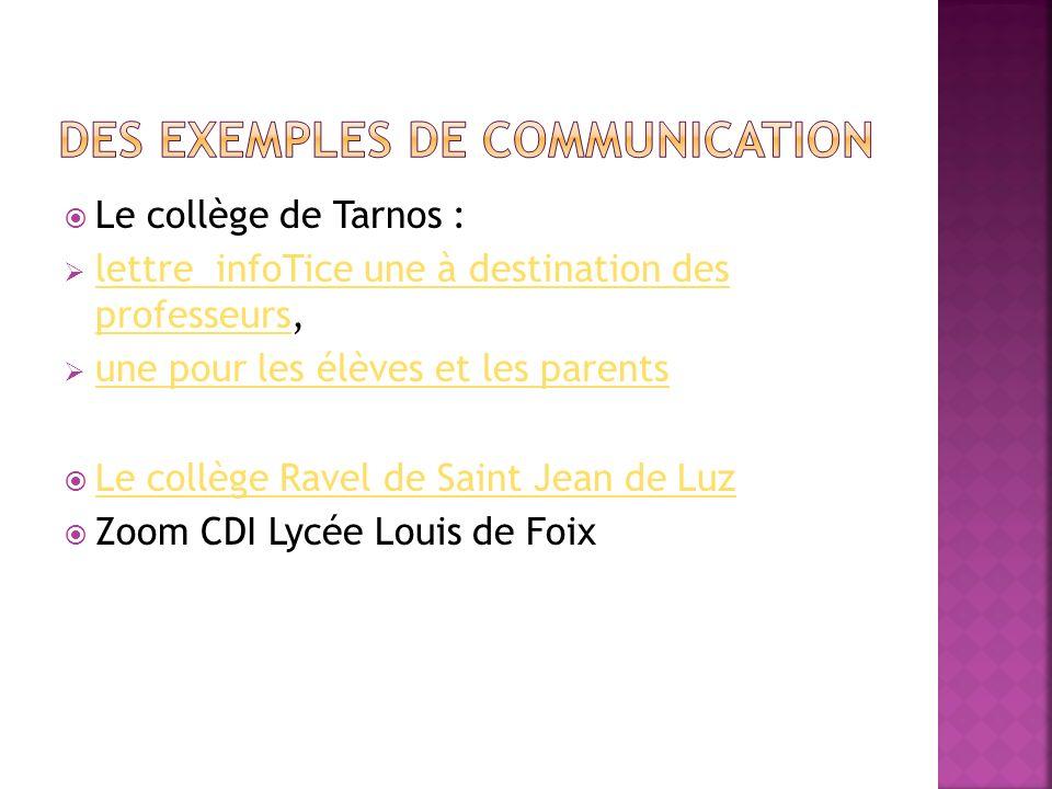 Des exemples de communication
