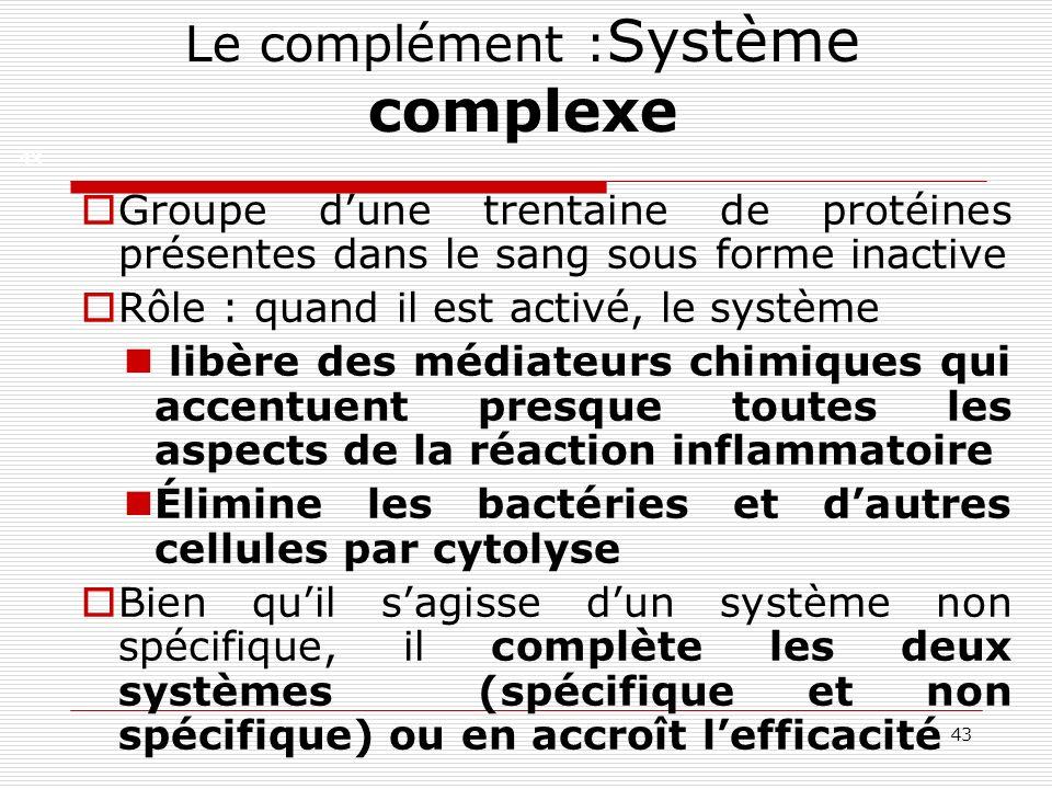 Le complément :Système complexe