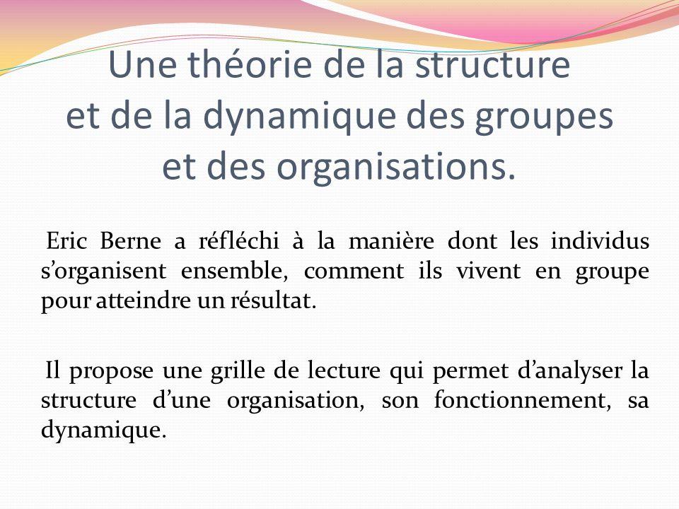 Une théorie de la structure et de la dynamique des groupes et des organisations.