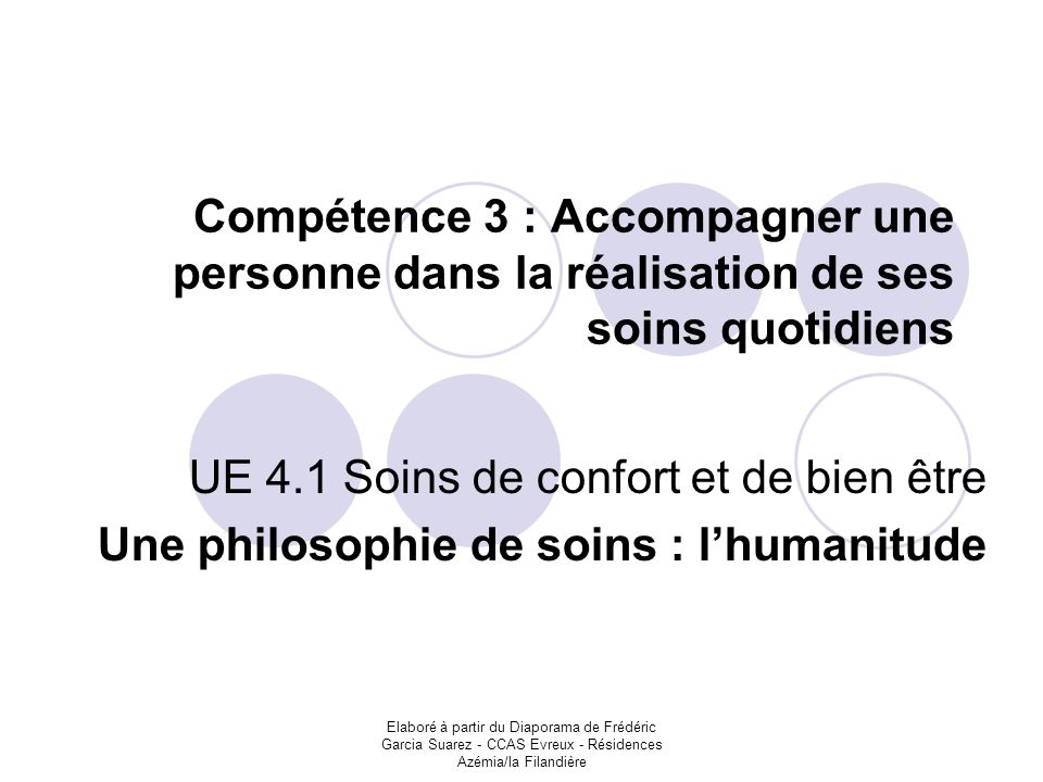 UE 4.1 Soins de confort et de bien être