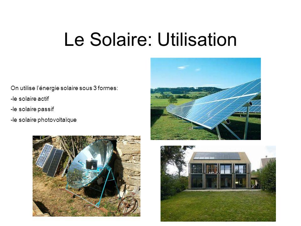 Le Solaire: Utilisation
