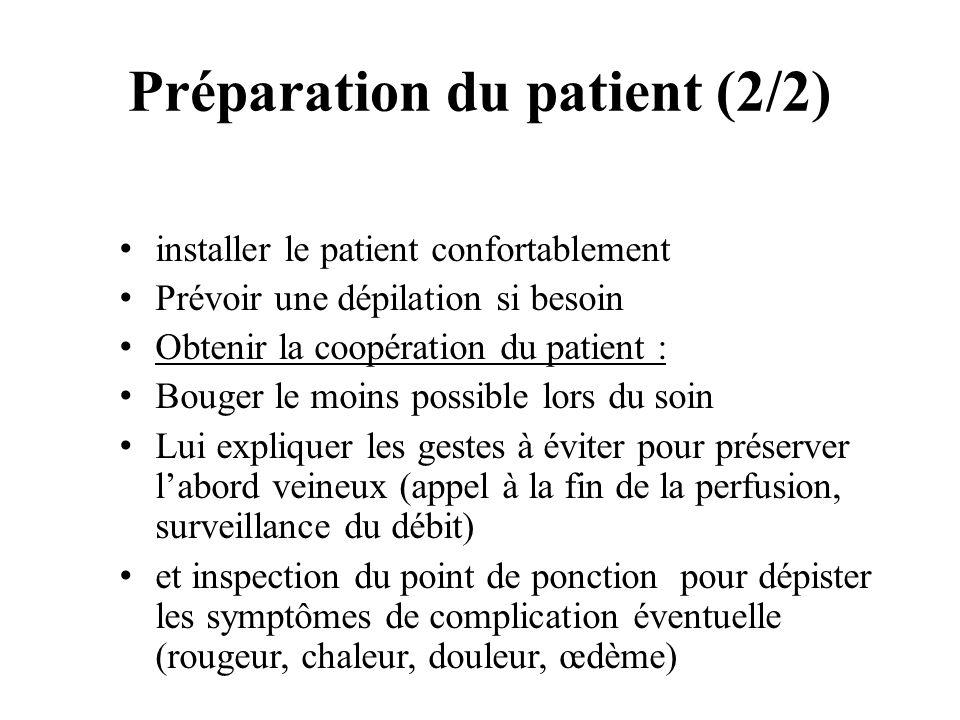 Préparation du patient (2/2)