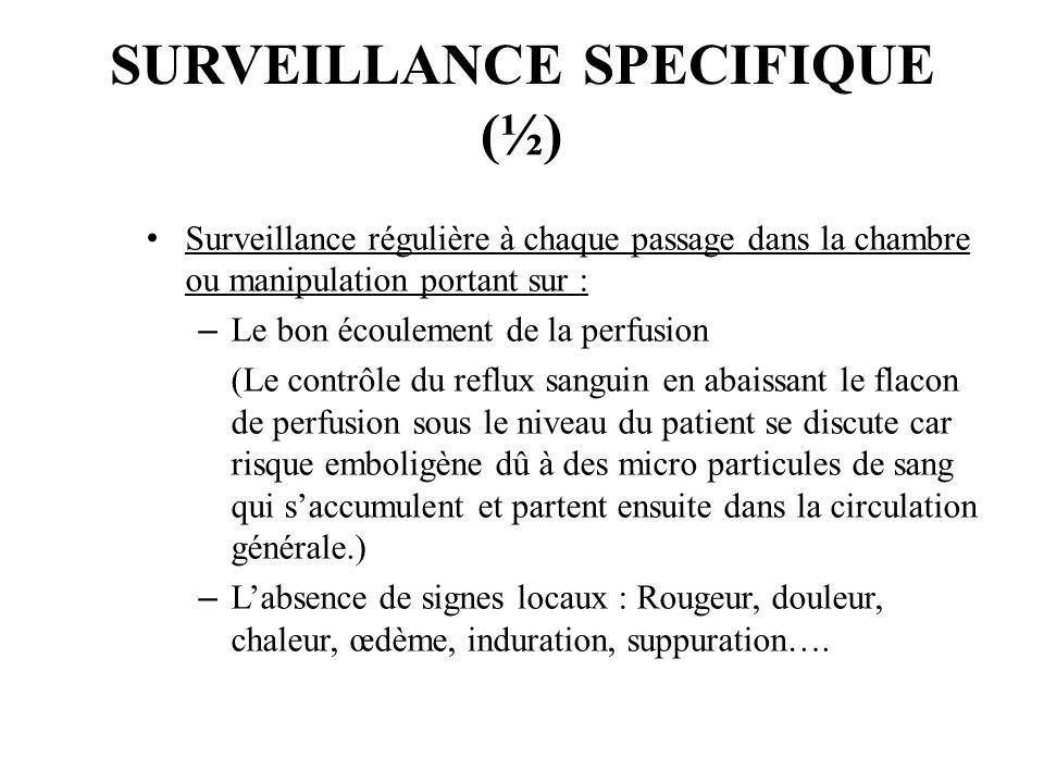 SURVEILLANCE SPECIFIQUE (½)