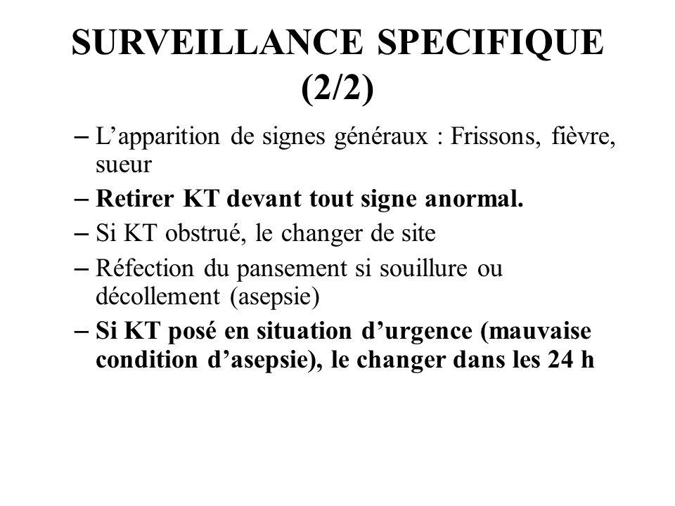 SURVEILLANCE SPECIFIQUE (2/2)