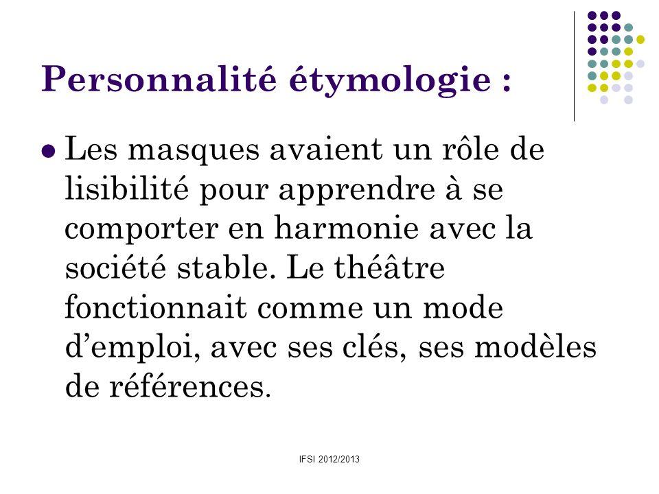 Personnalité étymologie :