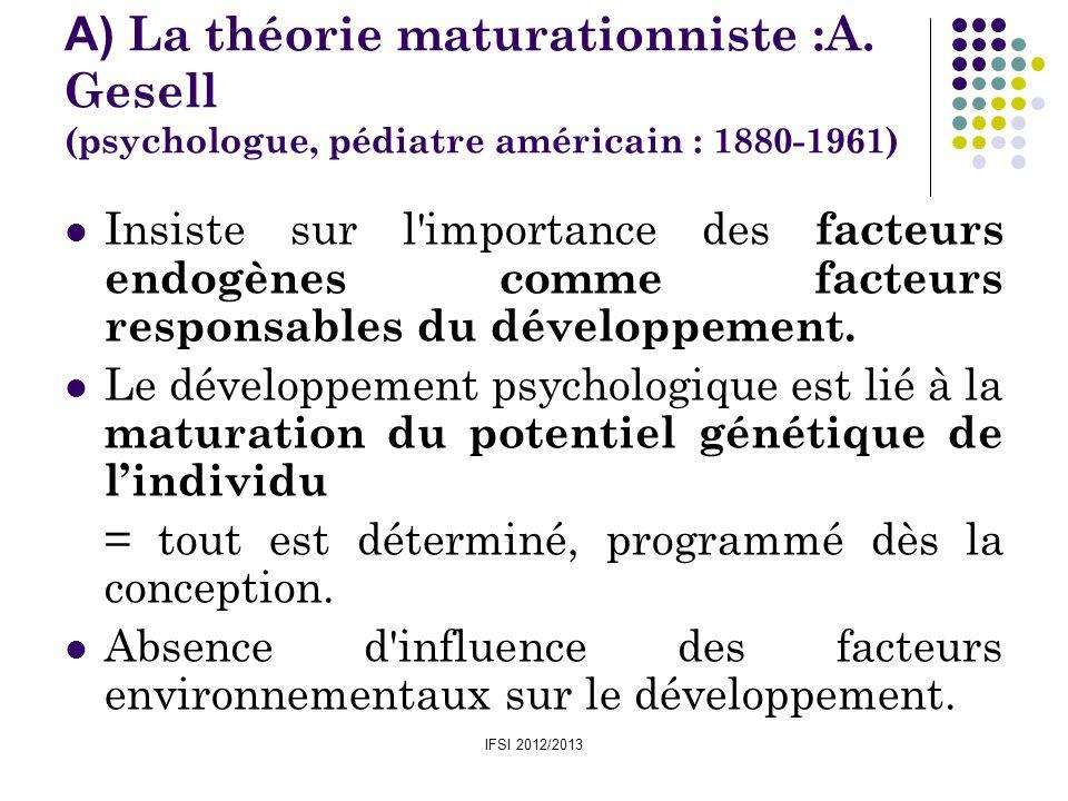 A) La théorie maturationniste :A