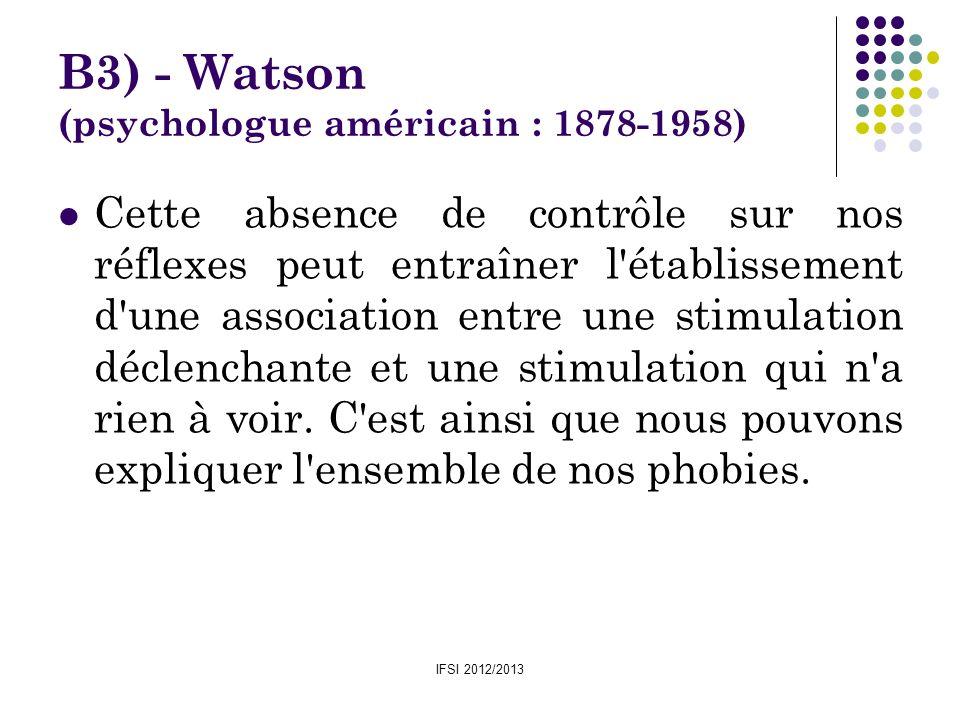 B3) - Watson (psychologue américain : 1878-1958)
