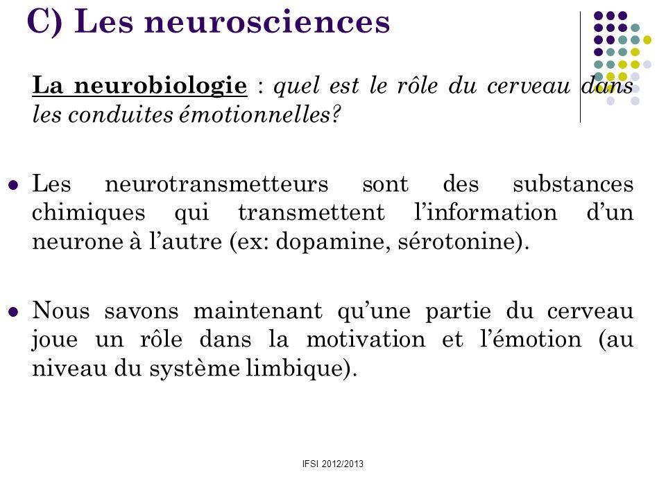 C) Les neurosciences La neurobiologie : quel est le rôle du cerveau dans les conduites émotionnelles
