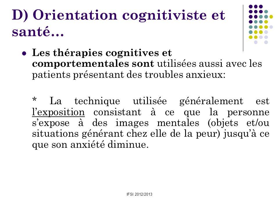 D) Orientation cognitiviste et santé…