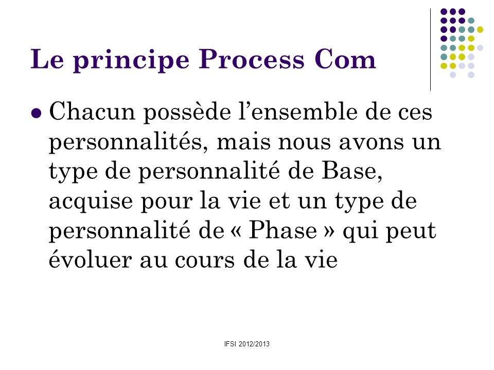 Le principe Process Com