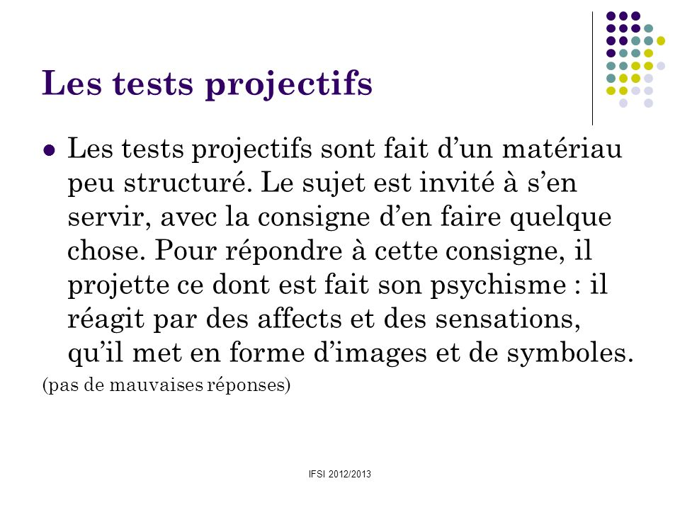 Les tests projectifs