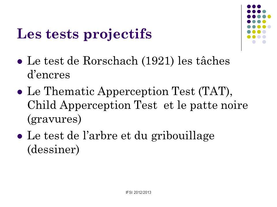 Les tests projectifs Le test de Rorschach (1921) les tâches d'encres
