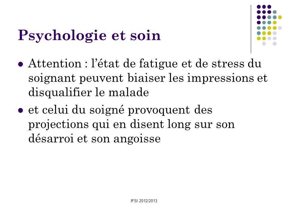 Psychologie et soin Attention : l'état de fatigue et de stress du soignant peuvent biaiser les impressions et disqualifier le malade.