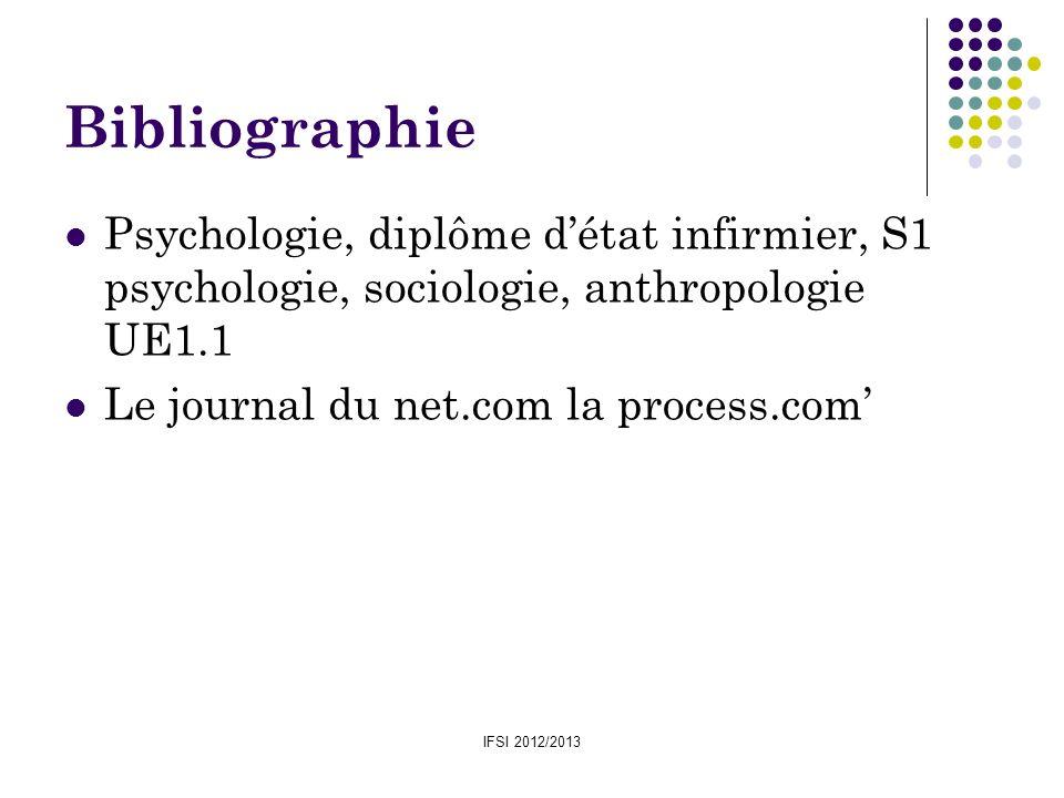BibliographiePsychologie, diplôme d'état infirmier, S1 psychologie, sociologie, anthropologie UE1.1.