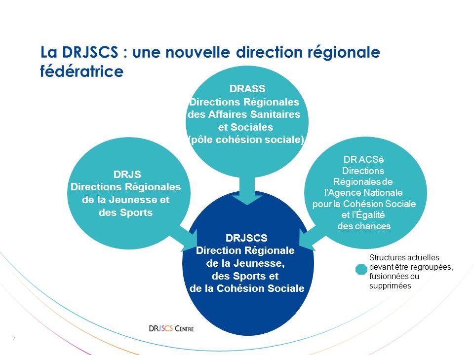 La DRJSCS : une nouvelle direction régionale fédératrice