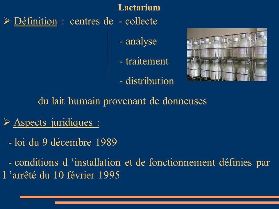 Définition : centres de - collecte - analyse - traitement
