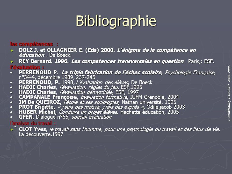 Bibliographie les compétences :